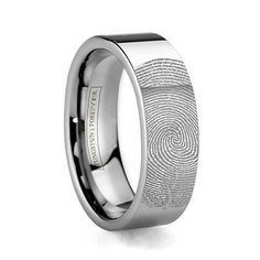 Squared Corner Comfort Fit Wedding Band Accented By Blacken Grooves