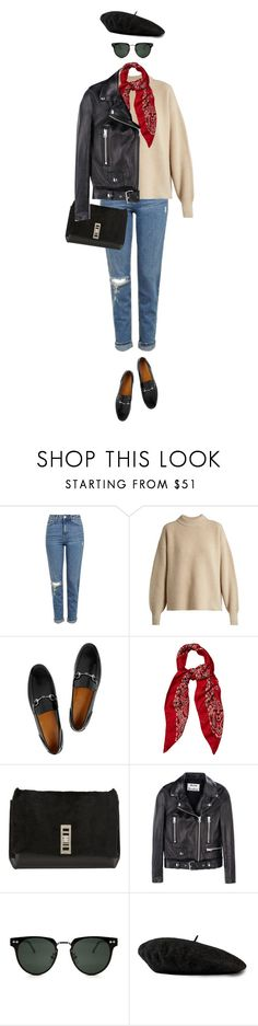 """Untitled #199"" by smileyface2299 ❤ liked on Polyvore featuring Topshop, The Row, Gucci, Yves Saint Laurent, Proenza Schouler, Acne Studios and Spitfire"