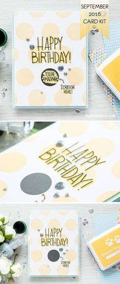 Get creative with Simon Says Stamp September 2016 Card Kit! Simple stamped…