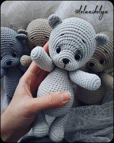 CO (to create arm), Crochet Teddy Bear Pattern, Crochet Animal Patterns, Stuffed Animal Patterns, Crochet Patterns Amigurumi, Crochet Animals, Crochet Dolls, Crochet Baby, Free Crochet, Amigurumi Toys
