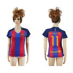 Barcelona Trøje Dame 16-17 #Neymar Jr 11 Hjemmebanetrøje Kort ærmer,208,58KR,shirtshopservice@gmail.com