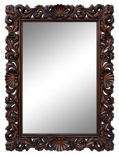 Зеркало в стиле Рококо Белое