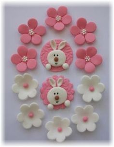 Cupcake Sugar Toppers. it's definitely for a baby girl. :)