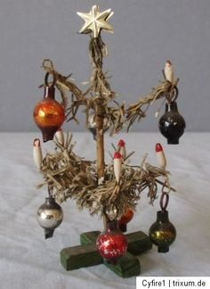 Gorgeous Antique German Miniature Dollhouse Christmas Tree 1910`S | eBay