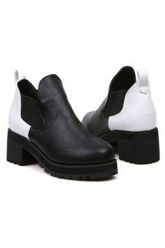 Color Block Paneled Boots - OASAP.com