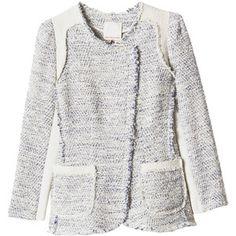 REBECCA TAYLOR - Colorblock Tweed Blazer. Parisian chic.