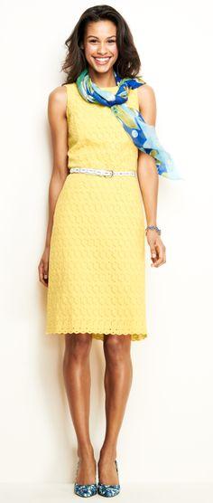 Sunny eyelet sheath dress outfit | Lands' End