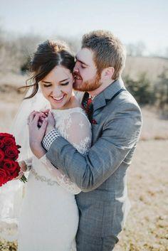 Adorable wedding portrait by Amanda Basteen