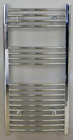 Chrome Curved Heated Towel Rail Warmer 700 mm x 500 mm