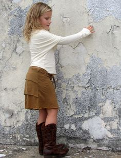 Gaia Conceptions - Girls - Ruffled Butt Short Skirt, $65.00 (http://www.gaiaconceptions.com/girls-ruffled-butt-short-skirt/)