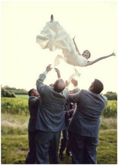 crazy wedding photo :) Megan you have to do this!!!