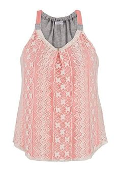 Have! Plan to pair it with a coral cardigan for spring! Contrast strap plus size tank with lace (original price, $34) available at #Maurices