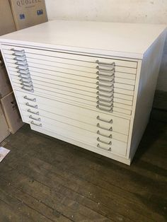 Vintage 15 Drawer Flat File Blueprint Cabinet 41 w