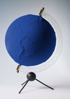 Yves Klein, Blue Globe, Nice example of the visual properties of International Klein Blue International Klein Blue, Ravenclaw, Nouveau Realisme, Yves Klein Blue, Le Grand Bleu, Globe Art, Blue Colour Palette, Art Abstrait, Love Blue