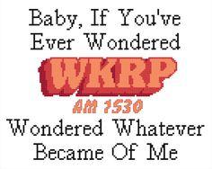 WKRP Inspired Cross Stitch PATTERN by KnerdlyKnits on Etsy
