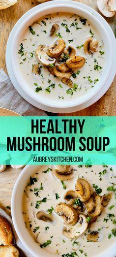 Fall Soup Recipes, Mushroom Soup Recipes, Chili Recipes, Easy Mushroom Soup, Vegetarian Mushroom Recipes, Quick Soup Recipes, Quick And Easy Soup, Winter Recipes, Healthy Fall Soups