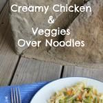 Creamy Chicken and Veggies over Egg Noodles