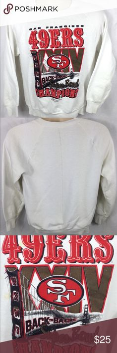 1990 Starter SF 49ers XXIV Super Bowl Champions Crewneck is very vintage and rare. Comes from the golden era of the 49ers. Crewneck is in excellent condition. No rips or stains. See pictures for details. Any questions please feel free to contact me. STARTER Sweaters Crewneck