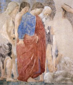 ❤ - PIERO DELLA FRANCESCA - (1415 - 1492) - The Death of Adam (detail). Fresco. 390 x 747 cm (full painting). San Francesco, Arezzo, Italy.