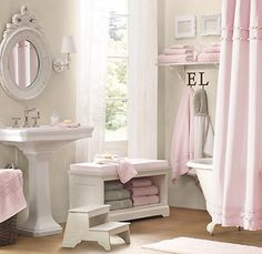 cute colours for a childs bathroom