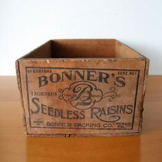 Bonners Raisin Crate