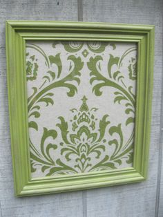Green Frame & Fabric Wall Decor  Wall Art Gallery Wall by 4onemore, $17.00