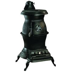 Caboose Pot Belly Wood Stove 1869 No Electricity Required Heavy Duty Cast