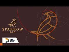 Adobe Illustrator Tutorial | Sparrow Bar Logo Design with Golden Ratio - YouTube