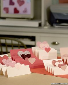 When opened, this valentine expresses your love four times over on its accordion folds.