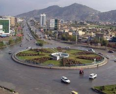 They just love traffic circles! Shopping Mall, California, River, Afghanistan, Architecture, Street, Circles, Squares, Outdoor