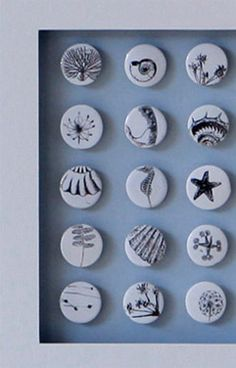 Exquisitely detailed nature inspired ceramic tiles by Caroline Barnes Ceramics at www.cbceramics.co.uk