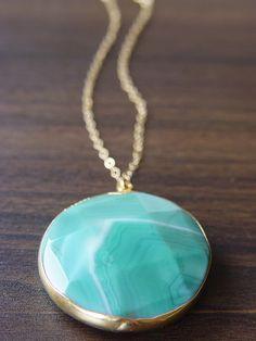 Mint Opal Round Necklace 14k Gold $69