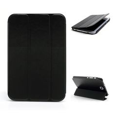 Image 1 of 4. This is the smart case for the Galaxy Note 8.0. The tri folding case allows the stand up position for your Tablet. Sit back and enjoy a movie. Sleep easy case in store now. www.mobilegadgetaccessories.com