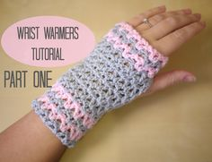 Pretty wrist warners tutorial. Ideal for gifts and perfect for wearing to keep you hand warm while doing crochet! Part two: http://youtu.be/S4UAoJUMzWk WRITT...