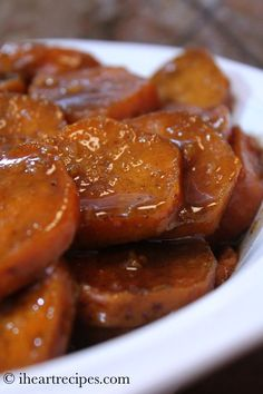 How to make southern style candied yams in the slow cooker. These easy candied yams are the bomb! My subscribers and I obviously love candied yams , and sweet potatoes. I'm always uploading yam and sweet potato recipes, because my sweethearts are always requesting them! One of my most popular recipes on iheartrecipes.com , would have to be my baked candied yams soul food style. This past holiday season I've gotten about a 100 emails from readers raving about these southern style candi...