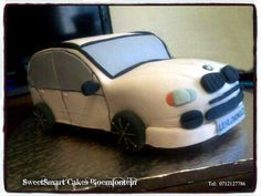 BMW Cake For more info & orders email sweetartbfn@gmail.com or call 0712127786 Bmw Cake, Cupcake Toppers, Planes, Fondant, Trains, Bike, Cars, Airplanes, Bicycle