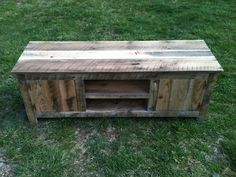 Old barn wood tv stand. Media stand.Made from reclaimed wood. $375.00, via Etsy.
