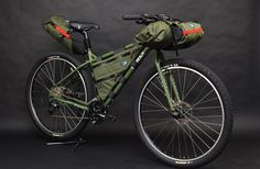 Surly bicycle loaded with Porcelain Rocket bike bags // Frame, seat, handlebar, accessory, big dummy packs