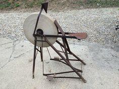 Antique Bicycle Grinding Stone Pedal Wheel Sandstone Sharpener Ohio | eBay