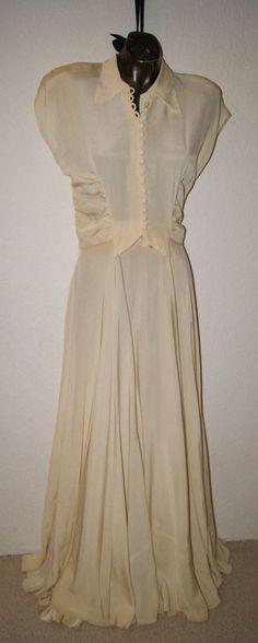 ausgefallenes glamuröses 1930er Jahre Abendkleid mit Bolero Gr. 36 - 38