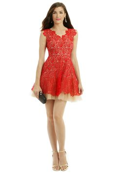 Rent Red Lace Dahlia Dress by nha khanh for $100 only at Rent the Runway.