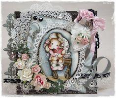 OOAK VintageMagnolia Tilda  LOVE Card by Crafteezee by Crafteezee, £16.95