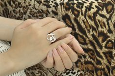 Sterling Silver CZ Heart Shaped Ring 1.0 Carat