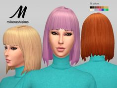 Seductive Hair at Mikerashi • Sims 4 Updates