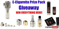 Enter to win a cool E-CIgarette Prize package from http://VapingCheap.com