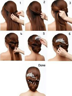 Woven wedding hair tutorial
