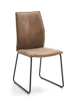 Niehoff+Stuhl+7331+Capri+Kufengestell+schwarz+%2F+Microfaser+schlamm