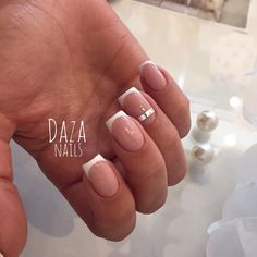 Classic french manicure, Evening french manicure, Everyday nails, Exquisite nails, French manicure ideas 2017, Gel french manicure, Medium nails, Original nails