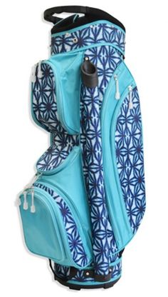 Indigo Batik All for Color Ladies Golf Cart Bag at Lori's Golf Shoppe