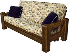 Tables and Seating - Barnwood Futon Frame - Furniture Plans, Rustic Furniture, Furniture Making, Pine Timber, Futon Frame, Southwestern Decorating, Elements Of Design, Outdoor Cushions, Barn Wood